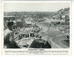 """III. Reich - gedrucktes Pressefoto """" Normannische Tragödie """" 18.7.1944"""
