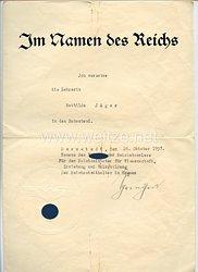 III. Reich - Originalunterschrift des Reichsstatthalters von Hessen Jakob Sprenger