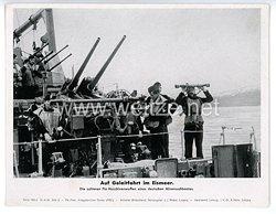"""III. Reich - gedrucktes Pressefoto """" Auf Geleitfahrt im Eismeer """" 31.8.1943"""