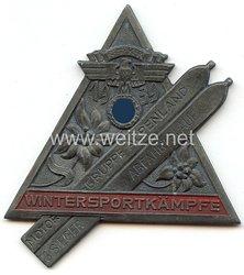 """NSKK - nichttragbare Siegerplakette - """" NSKK Motorgruppe Alpenland - Wintersportkämpfe 1939 Abfahrtslauf 3. Sieger """""""