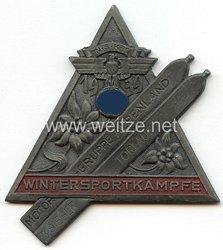 """NSKK - nichttragbare Siegerplakette - """" NSKK Motorgruppe Alpenland - Wintersportkämpfe 1939 Torlauf 3. Sieger """""""