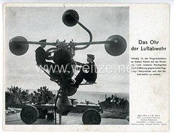 """III. Reich - gedrucktes Pressefoto """" Das Ohr der Luftabwehr """" 9.3.1943"""