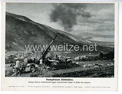 """III. Reich - gedrucktes Pressefoto """" Kampfraum Süditalien """" 16.11.1943"""