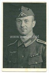 Wehrmacht Heer Portraitfoto, Feldwebel mit Feldspange