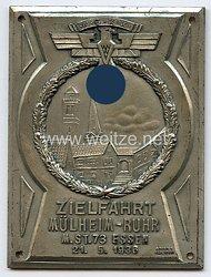 """NSKK - nichttragbare Teilnehmerplakette - """" NSKK Zielfahrt Mülheim-Ruhr M.St. 73 Essen 21.5.1936 """""""