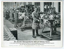 """III. Reich - gedrucktes Pressefoto """" Die deutsche Rüstungsindustrie läuft auf höchsten Touren """" 16.2.1943"""