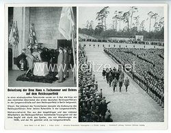 """III. Reich - gedrucktes Pressefoto """" Beisetzung der Urne Hans v. Tschammer und Ostens auf dem Reichssportfeld """" 4.5.1943"""