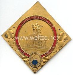 """III. Reich - Der Deutsche Automobil Club ( D.D.A.C. ) - nichttragbare Teilnehmerplakette - """" DDAC Gau 15 Westmark Jahreswertung 1937 """""""
