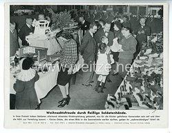 """III. Reich - gedrucktes Pressefoto """" Weihnachtsfreude durch fleißige Soldatenhände """" 3.12.1943"""