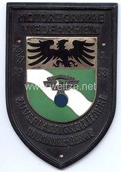 """NSKK - nichttragbare Teilnehmerplakette - """" Motor-Gruppe Niederrhein Zuverlässigkeitsfahrt 26./27.3.1938 Roemryke-Berge """""""
