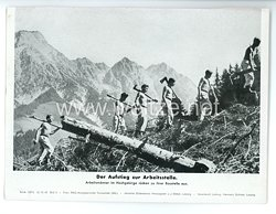"""III. Reich - gedrucktes Pressefoto """" Der Aufstieg zur Arbeitsstelle """" 12.10.1943"""