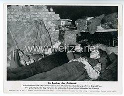 """III. Reich - gedrucktes Pressefoto """" Im Bunker der Ostfront """" 12.1.1943"""