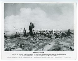 """III. Reich - gedrucktes Pressefoto """" Der Gegenstoß """" 14.9.1943"""