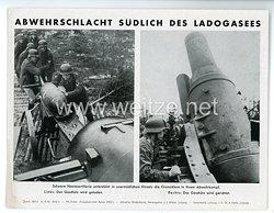"""III. Reich - gedrucktes Pressefoto """" Abwehrschlacht südlich des Ladogasees """" 31.8.1943"""