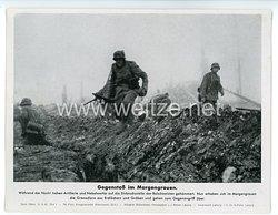"""III. Reich - gedrucktes Pressefoto """" Gegenstoß im Morgengrauen """" 21.9.1943"""