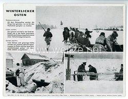"""III. Reich - gedrucktes Pressefoto """" Winterlicher Osten """" 8.1.1943"""