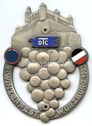 """III. Reich - nichttragbare Teilnehmerplakette - """" DTC 2. Winzerfest Würzburg 1933 """""""