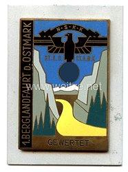 "NSKK - nichttragbare Teilnehmerplakette - "" 1. Berglandfahrt d. Ostmark ST.A.C. ST.A.M.K. gewertet """