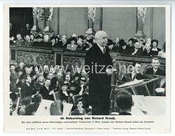 """III. Reich - gedrucktes Pressefoto """" 80. Geburtstag von Richard Strauß """" 20.6.1944"""