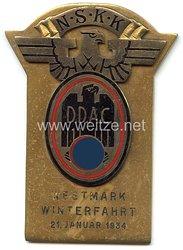 """NSKK / DDAC - nichttragbare Teilnehmerplakette - """" Westmark Winterfahrt 21. Januar 1934 """""""