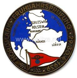 """NSKK - nichttragbare Teilnehmerplakette - """" Nordmark Frühjahrsprüfung 29./30.4.1939 Rendsburg-Itzehoe-Lübeck """""""