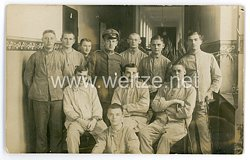 Deutsches Heer Foto, Gruppenfoto im Lazarett
