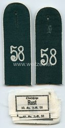 Reichswehr / Wehrmacht Heer Paar Schulterklappen für Mannschaften im Infanterie Rgt.58