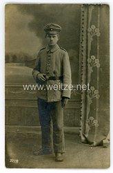 Deutsches Heer Foto, Soldat mit Verwundetenabzeichen