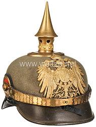 Deutsches Reich Pickelhaube Modell 1900 für einen Offizier im Ostasiatischen Expeditionskorps
