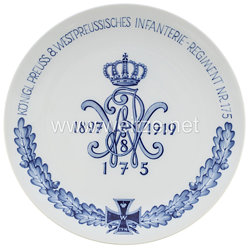 """Ehrenschale aus Meißner Porzellan""""Königlich Preussisches 8. Westpreussisches Infanterie-Regiment Nr. 175"""""""