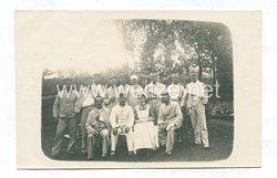 Deutsches Heer Foto, Verwundete Soldaten im Lazarett
