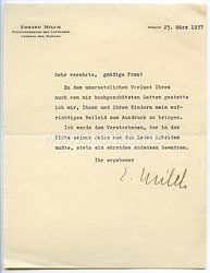 Luftwaffe - Originalunterschrift von Ritterkreuzträger General der Flieger Erhard Milch