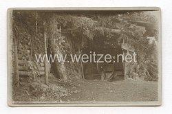 1. Weltkrieg Deutsches Heer Foto, Feldkanone in Stellung