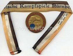 """III. Reich - nichttragbare Erinnerungsplakette - """" Deutsche Kampfspiele Nürnberg 1934 """""""
