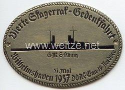"""III. Reich - Der Deutsche Automobil Club ( D.D.A.C. ) - nichttragbare Teilnehmerplakette - """" DDAC Gau 19 Nordsee 4. Skagerrak-Gedenkfahrt S.M.S. König 31. Mai 1937 Wilhelmshaven """""""