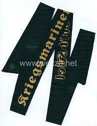 "Kriegsmarine Mützenband ""Kriegsmarinewerft Kiel"" ."