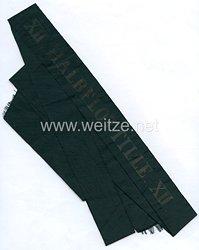 """Reichsmarine Mützenband """"XII. Halbflottille.XII."""" in Gold"""
