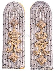 Preußen Paar Schulterstücke für einen Hauptmann im Grenadier-Regiment König Friedrich III. (2. Schlesisches) Nr. 11