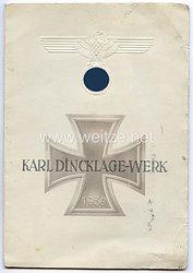 NSDAP Gau Südhannover-Braunschweig Karl-Dincklage-Werk - Ehrenpatenschaft für ein Kind