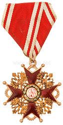 Zaristisches Russland St. Stanislaus Orden Kreuz 4. Klasse