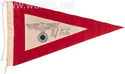 SA große Kommandoflagge des SA-Sturmbann II der SA-Standarte 166