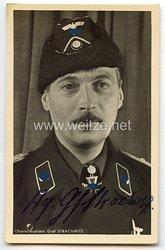 Heer - Originalunterschrift von dem 144. Brillantenträger Oberstleutnant Hyazinth Graf Strachwitz