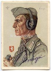Heer - Faksimileunterschrift von Ritterkreuzträger Leutnant Hugo Primozic