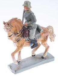 Lineol - Heer Kavallerieoffizier mit gezogenem Degen auf Schrittpferd