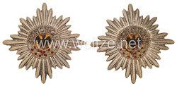 Preußen Paar Garde-Sterne des Schwarzen Adler Ordens für die Parade-Decke/Schabracke für Offiziere der Garde-Regimenter