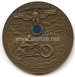 """NSKK - nichttragbare Teilnehmerplakette - """" Motorgruppe Alpenland Salzburg, 12 Stunden-Fernfahrt 1939 """""""
