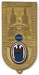 """NSKK / DDAC - nichttragbare Teilnehmerplakette - """" 1. Niederrhein Winterfahrt 1934 Gau IV """""""