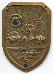 """NSKK - nichttragbare Teilnehmerplakette - """" Zielfahrt Eitorf 4.u.5. Nov.1933"""""""