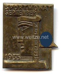 III. Reich - Sportmonat September 1933 Reg. Bez. Hildesheim