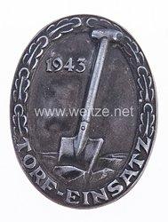 """HJ tragbare Auszeichnung """"Torf-Einsatz 1943"""""""